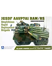 Aoshima 1/72 Scale JGSDF AAVP7A1 RAM/RS Amphibious Rapid Deployment Brigade Armored Vehicle - Plastic Model Building Kit # 56646