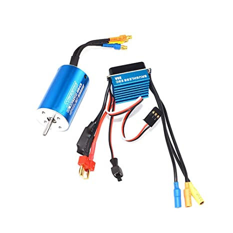 Amazon com: Brushless Motor Kit - 4-Poles 12-Slots Hi-Torque