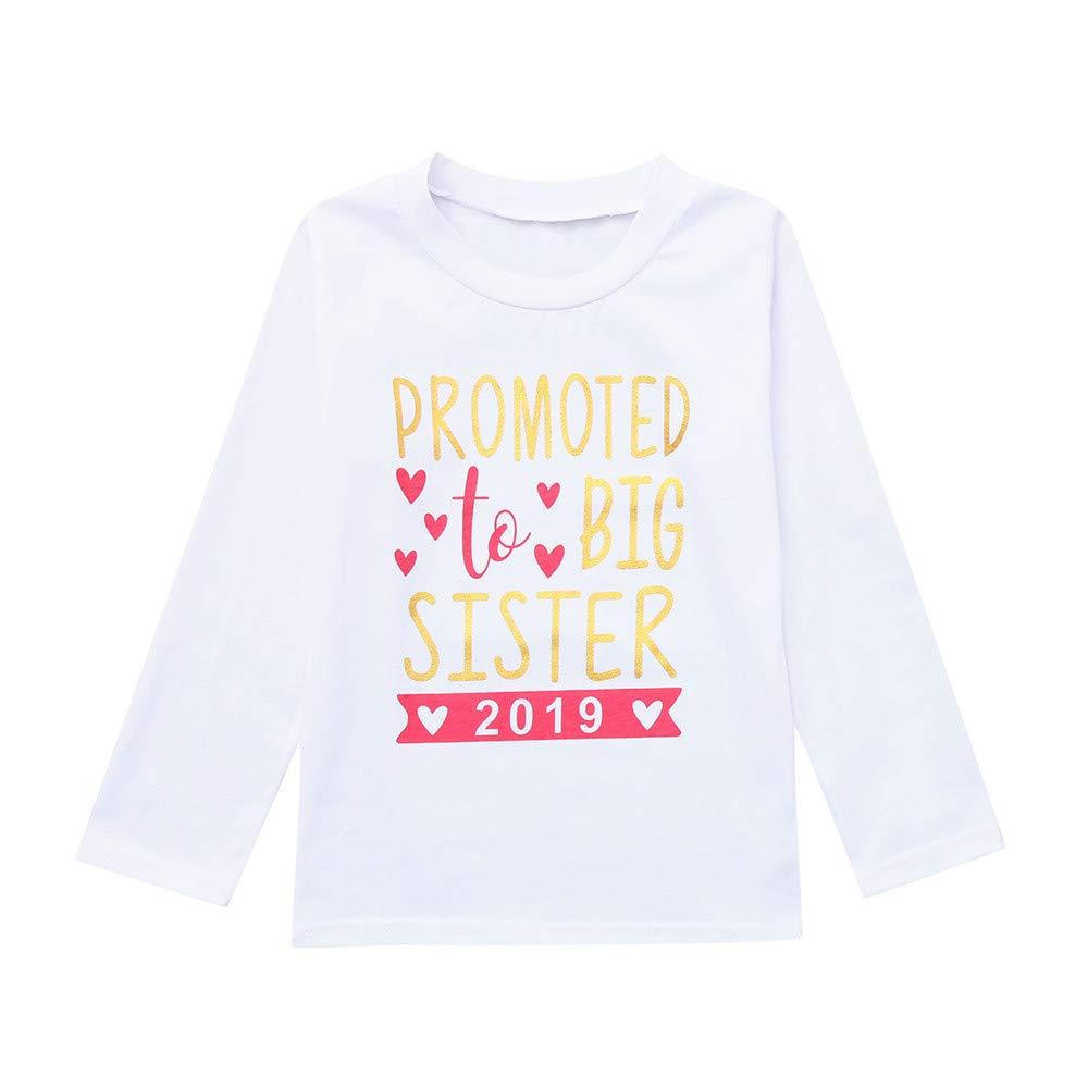 Girls Spring Cotton Tops,Little Girls Long Sleeve Tee Shirt,Letter Print Cotton Pajama Shirt for Little Girls.(White,120)