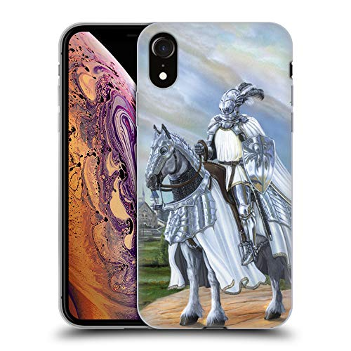 Official Ed Beard Jr White Knight Medieval Soft Gel Case for iPhone XR