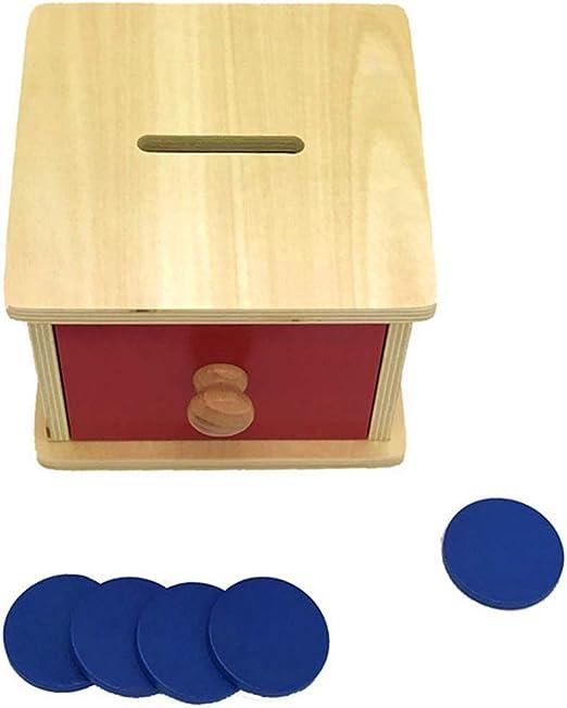 siwetg Montessori Caja de Monedas para bebés, Juego de Pintura de ...