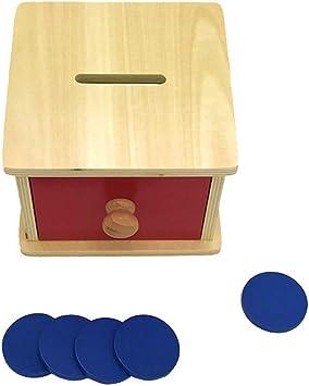 MiSha Caja de Monedas Montessori, Coin Box Montessori Juguetes Educativos Bank de Madera Aprendizaje Educativo Juegos para Niños: Amazon.es: Juguetes y juegos