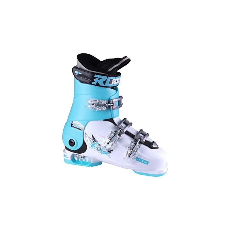 Roces Idea Free G Girls Ski Boots 22 25/White Light Blue Black