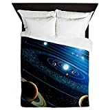 CafePress Artwork of The Solar System - Queen Duvet Cover, Printed Comforter Cover, Unique Bedding, Microfiber
