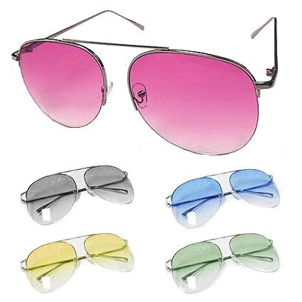 b18ad7f0b2 Amazon.com   Aviator Sunglasses Color Gradient Oversized Lens Retro Large  Vintage Fashion UV   Office Products