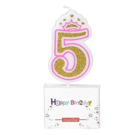 Vela de Pastel de cumpleaños, Velas Digitales Corona Números ...