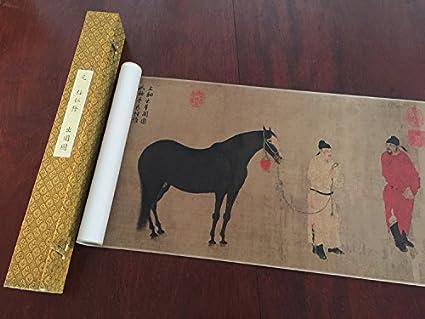 Chinese Art Print Fine Art Print Full Scroll Tang Dynasty Horse