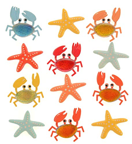 Darice Jolees Boutique Repeat Stickers Crabs and Starfish (3 - Boutique Crab