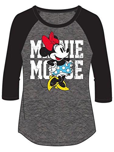 Disney Junior Minnie Mouse Name SJ Small Fashion 3/4 Sleeve Top