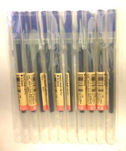 0.38-mm Black Moma Muji Gel Ink Ball Point Pen 10 Pcs