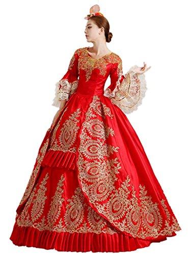 Soojun Robes De Bal D'halloween Cosplay De Robe De Bal Montrer Costume 12 1507 Rouge