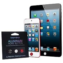 iPad Mini Case, Spigen iPad Mini Button Stickers - Premium Aluminum Home Button Sticker [Black, Silver, Red] [3-PACK] for iPad Mini / iPod Touch 5G (2012)