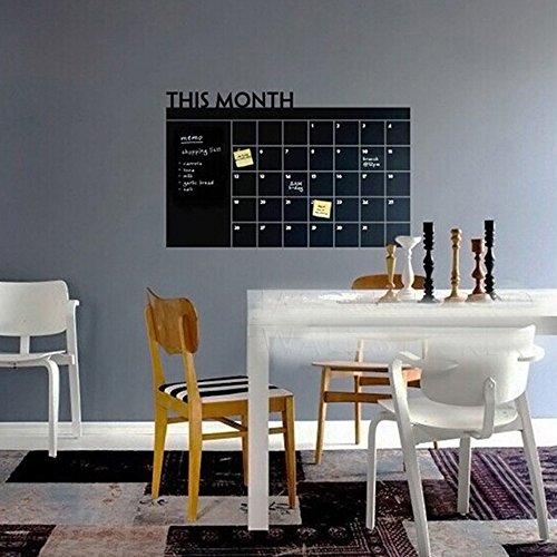85%OFF Kaimao Chalkboard Calendar Wall Sticker Blackboard Organizer  Wall  Decal Agenda Monthly Planner