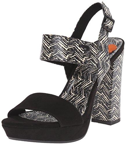 Black Studio Womens Sandals Heels (Rocket Dog Women's Studio Coast Fabric Platform Dress Sandal, Black, 6 M US)