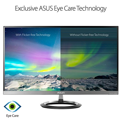 "Asus MZ27AQ Designo 27"" Monitor WQHD IPS DP HDMI Eye Care Monitor with Stereo 6W Speakers and 5W Subwoofer, 27"" (Renewed)"