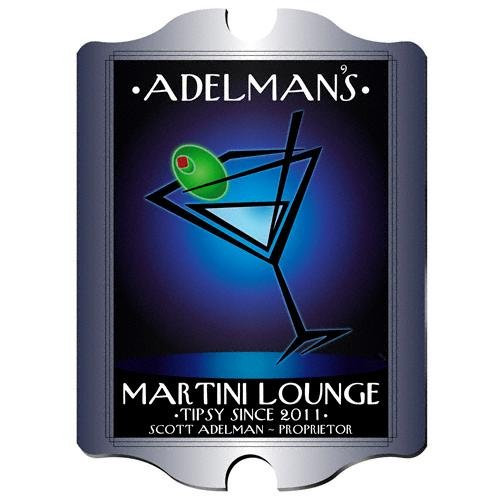 Martini Personalized Bar Sign (Personalized 15.5