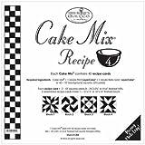 Cake Mix Receipe #4 ~45 Receipe Cards make 360 3 3/4'' x 3 3/4'' HST