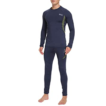 83166ae890220c UNIQUEBELLA Thermounterwäsche Funktionswäsche Herren Skiunterwäsche Winter  Suit Ski Thermo-Unterwäsche Set Thermowäsche Unterhemd + Unterhose