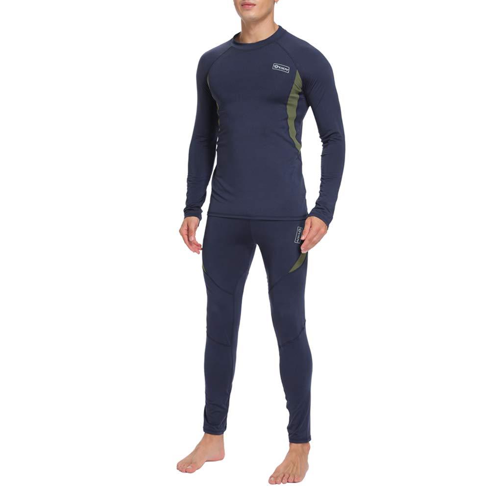 UniqueBella Suit Esquí Térmica Ropa Interior Térmica Manga Larga Camiseta +  Térmica Pantalones Largos 85d3f8e444c