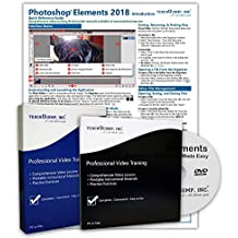 Learn Photoshop Elements 2018 DELUXE CPE Training Tutorial Package Video Lessons, PDF Instruction Manuals, Printed and Laminated Quick Reference Guide, Testing Materials, and Certificate of Completion