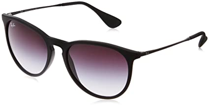 Ray-Ban rb4171 Womens Erika Round Sunglasses,Non-Polarized,Black Frame/Gray Gradient Lens,54 mm