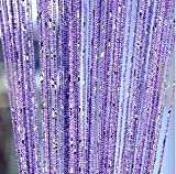 Curtains for Doors Eve Split Decorative Door String Curtain Wall Panel Fringe Window Room Divider Blind Divider Crystal Tassel Screen Home 100cm200cm(Light purple)