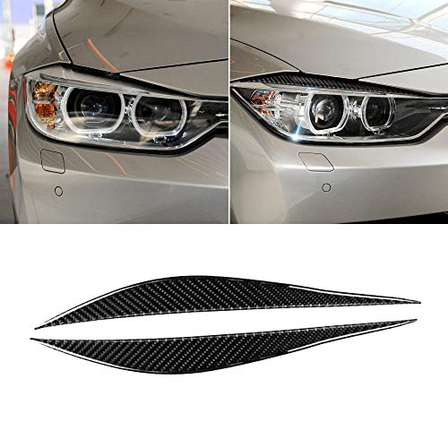 Car Headlight Eyebrows Eye Lid Sticker Genuine Carbon Fiber for BMW 3 Series F30 2013 2014 2015 2016 2017 Exterior Accessories