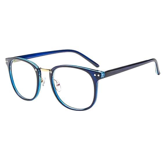 095c4b8964 Forepin® Montura para Gafas de Vista Hombre y Mujer Antiguas Grandes  Vintage Visión Clara Glasses Cristal Lente Transparente - Azul: Amazon.es:  Ropa y ...