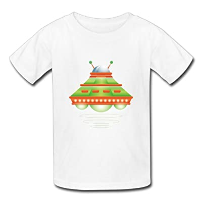 Cotton Newborn Tshirt, Spacecraft Unisex Short Sleeve Printed Tops For Boys Girls