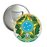 Brisil National Emblem Country Round Bottle Opener Refrigerator Magnet Pins Badge Button Gift 3pcs