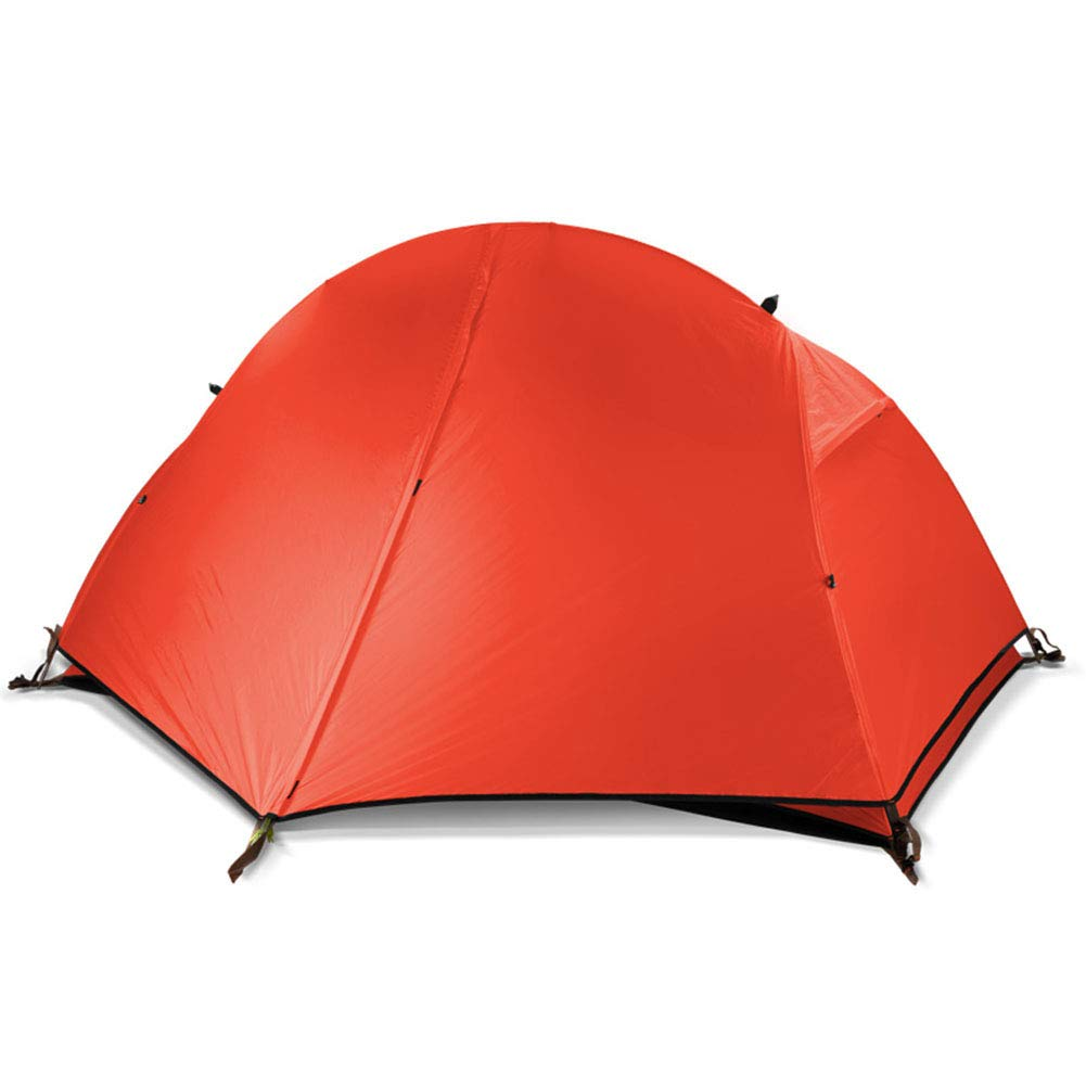 Spacious,Anti-UVZelt, Camping Zelt, Camping Compact Portable Falten Wasserproof Double Layer for Outdoor Hiking Backpacking Backpacking Climbing Travel (255  215  105cm),B