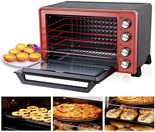 STBD-超広幅対流式卓上オーブン、ベーキングトレイ、グリル、スラグトレイ、45L、赤を含む3D熱対流式多機能オーブン