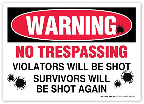 Pack Warning Trespassing Violators Sticker