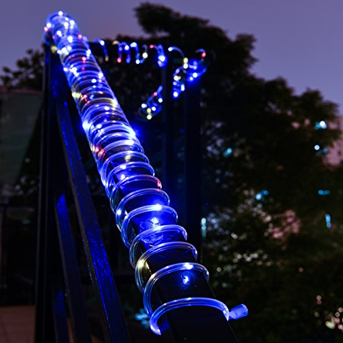 Purple String Lights Black Cord : Solar Rope Lights,Oak Leaf 41ft Waterproof 100 LED Outdoor Decoration String Lights with PVC ...