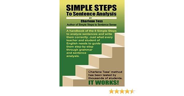 Amazon.com: Simple Steps to Sentence Analysis eBook: Charlene Tess ...
