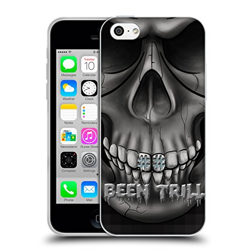 Official Been Trill Grills Silver Bling Blings Soft Gel Case for Apple iPhone 5c