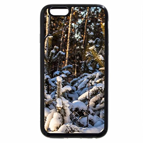 iPhone 6S Case, iPhone 6 Case (Black & White) - Spruce-winter