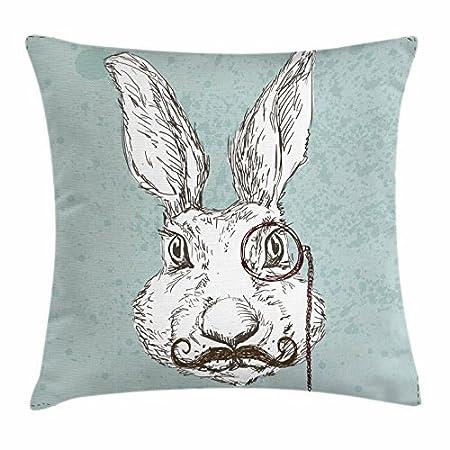 stylish&home Funda de cojín con diseño de Conejo y Conejo ...