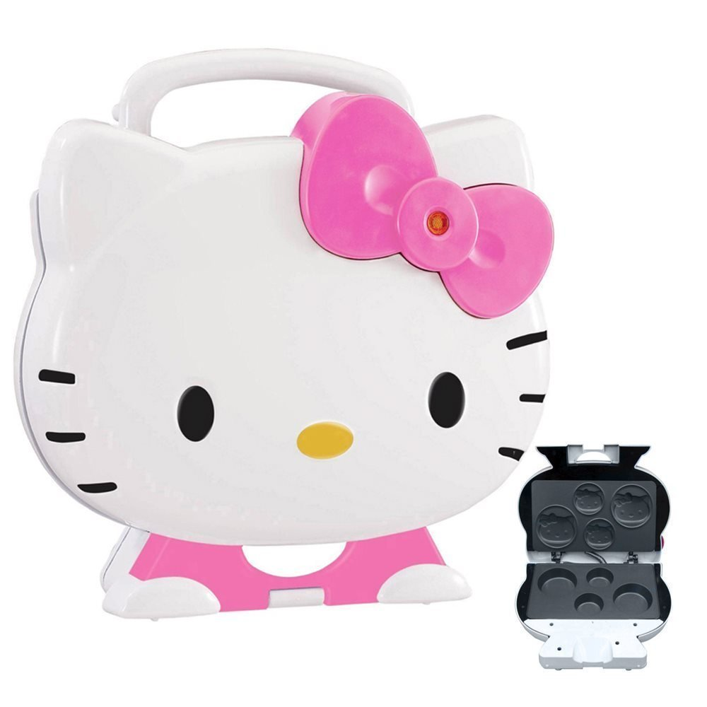 Hello Kitty KT5246 Cupcake Maker Nonstick Makes 2 Lg 2 Sm W/Cool Touch Handles