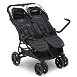 J is for Jeep Brand Destination Ultralight Side x Side Double Stroller, Midnight Black