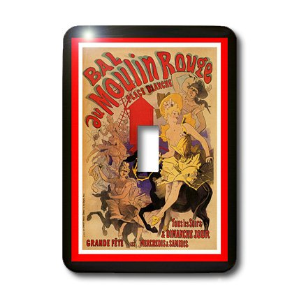 3dRose LLC lsp_109016_1 French Moulin Rouge Art Nouveau Poster Single Toggle Switch