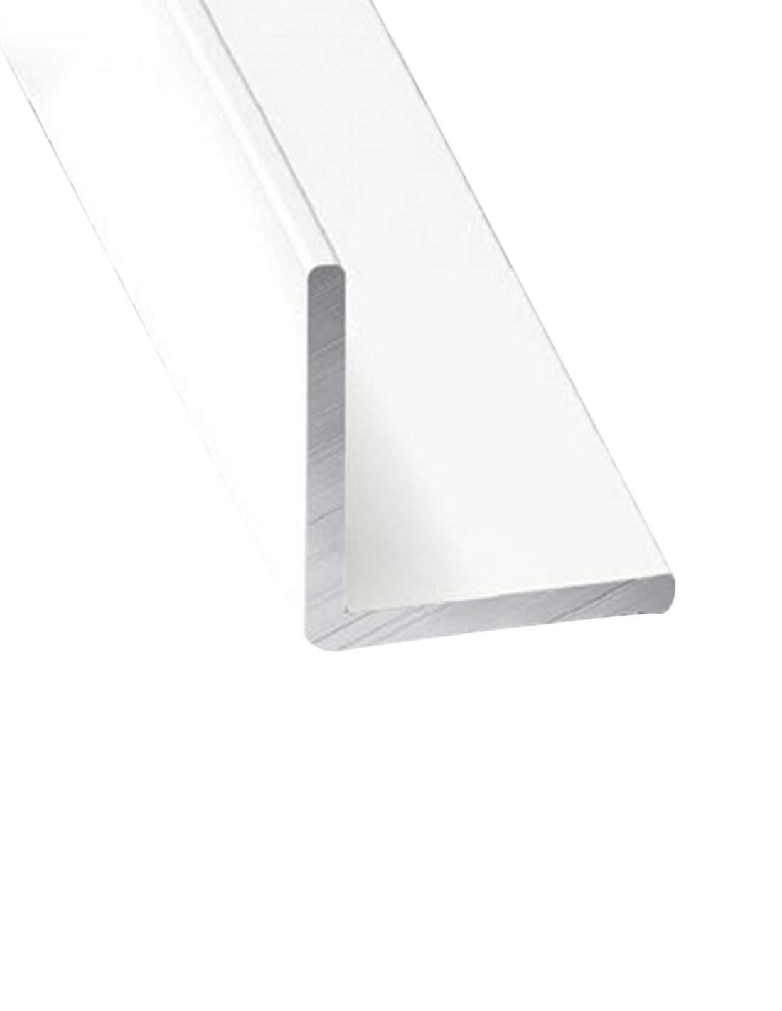 x3 unds Jardin202 15 mm 210m Perfil de Aluminio Blanco Angular