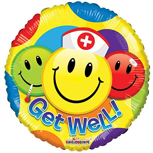 Get Well Soon Smiley Nurse 18'' Mylar Balloon Get Well Soon Birthday Party Decorations Supplies