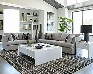Amazon.com: Coaster Lola Grey and Black Sofa 508601: Kitchen ...