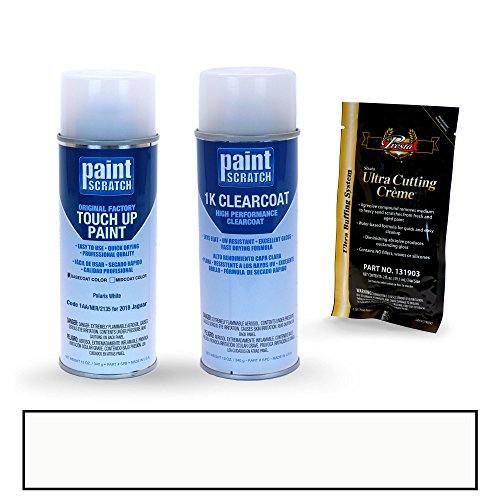 2018 Jaguar XJ Polaris White 1AA/NER/2135 Touch Up Paint Spray Can Kit by PaintScratch - Original Factory OEM Automotive Paint - Color Match Guaranteed by PaintScratch Automotive Touch Up Paint