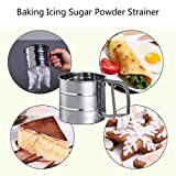MENGCORE Baking Stainless Steel Shaker Sieve Cup
