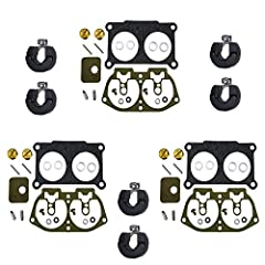 3 pack of premium Venom Brand carburetor rebuild kit with FLOATS for Yamaha V-4 outboard motors as noted below.  Replaces part numbers 6E5-W0093-06 and Sierra part number 18-7002 (Float 6E5-14385-02-00).  This kit includes the parts pictured ...