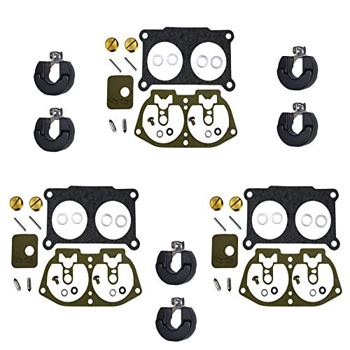 - 3 Pack of Outboard Carburetor Repair Kit w FLOATS (Compatible With Yamaha, Replaces 6E5-W0093-06-00/18-7002, Fits 1986-1995 150, 175 & 200 HP)