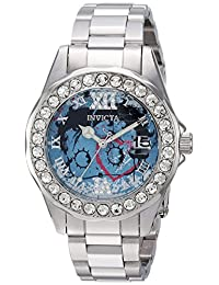 Invicta Women's 'Character Collection' Quartz Stainless Steel Casual Watch, Color:Silver-Toned (Model: 24490)