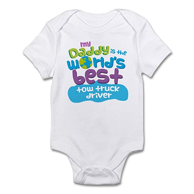 4f0b7bb6 Amazon.com: CafePress Tow Truck Driver Gifts for Kids Baby Bodysuit:  Clothing